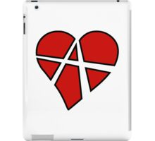 Anarchist Heart Red iPad Case/Skin