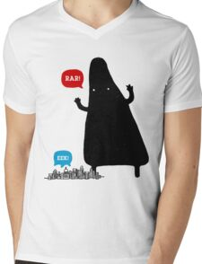 THE MONSTER IS COMING Mens V-Neck T-Shirt
