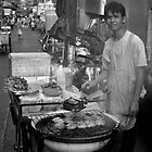 Street Vendor BBQ by Lesley Williamson