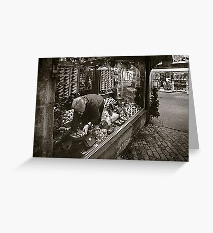 the tobacconist Greeting Card