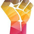 Solidarity Fist Salute Rainbow by BenjiKing