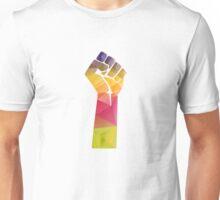 Solidarity Fist Salute Rainbow Unisex T-Shirt