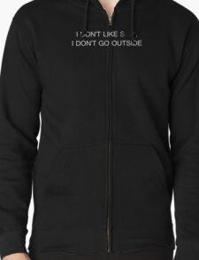 Earl Sweatshirt - I DON'T LIKE SH*T, I DON'T GO OUTSIDE  Zipped Hoodie