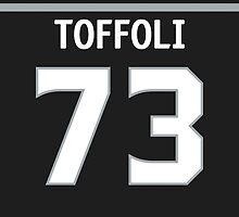 Los Angeles Kings Tyler Toffoli Jersey Back Phone Case by Russ Jericho