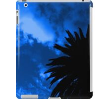 Palm Tree Silhouette - Blue Sunset iPad Case/Skin