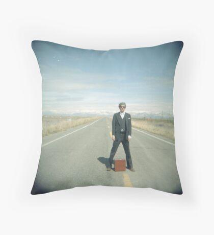 door-to-door salesman Throw Pillow