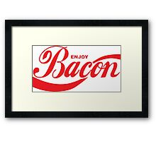 Enjoy Bacon Framed Print
