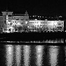 "Nightscape from Charles Bridge # 2 (Prague) ""INK OUTLINES"" by ChrisHarvey67"