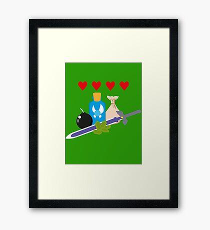 Legend of Zelda Items Framed Print