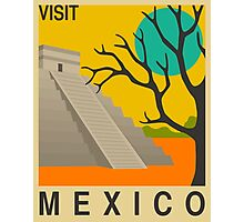 Mexico Travel Poster Photographic Print