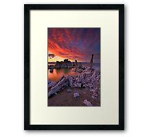 Mono Lake Sierra Wave Sunset Framed Print
