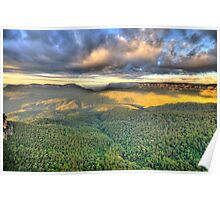 As Far As The Eye Can See - Blue Mountains Worls Heritage Area - The HDR Experience Poster
