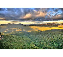 As Far As The Eye Can See - Blue Mountains Worls Heritage Area - The HDR Experience Photographic Print