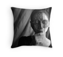 The Woman With the Iron Mask Throw Pillow