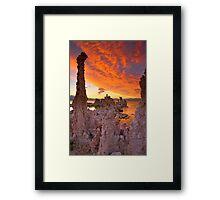 Mono Lake Sky on Fire Framed Print
