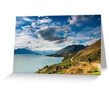 mountain scenery at lake pukaki Greeting Card