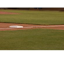 Third Base on a Well Groomed Infield,... It's Baseball Season!!! Photographic Print