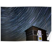 Lifeguard lookout with stars Poster