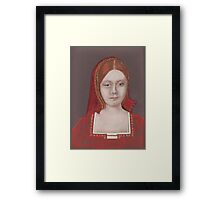 His First Victim (Catherine Of Aragon) Framed Print