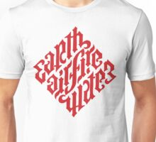 Earth, Air, Fire, Water - Ambigram Unisex T-Shirt