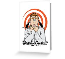 Yearly Review Greeting Card