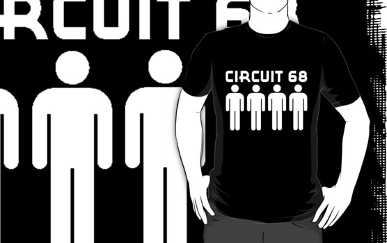 CIRCUIT 68-(four men) LOGO by OTIS PORRITT