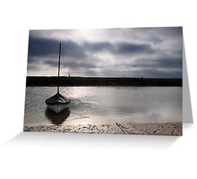 Low tide at Blakeney Greeting Card