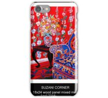 blue suzani easy chair iPhone Case/Skin