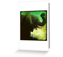 Ttv: Elephant Topiary Greeting Card