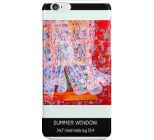 Summer window iPhone Case/Skin