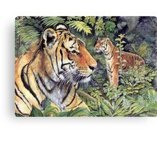 Tigers in the Forest Canvas Print