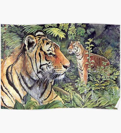 Tigers in the Forest Poster