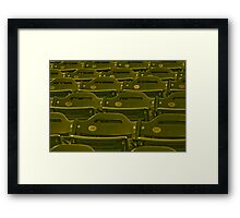Stadium Seats - In Anticipation of  the Spectators for the Next Game Framed Print