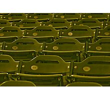 Stadium Seats - In Anticipation of  the Spectators for the Next Game Photographic Print