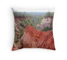 Burnt with Orange and Red Throw Pillow