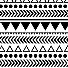 Geometric Shapes Pattern Black and White by Jacqui Frank