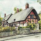 Anne Hathaway`s cottage  by morgansartworld