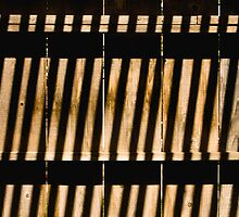 Lines - Abstract - Shadows Formed on Fence by Buckwhite