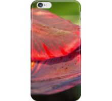 Red and Black Striped Tulip iPhone Case/Skin