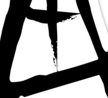 Anarchist Freehand Anarchy Symbol Sticker