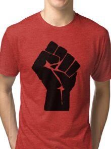 Solidarity Fist Salute Black Tri-blend T-Shirt