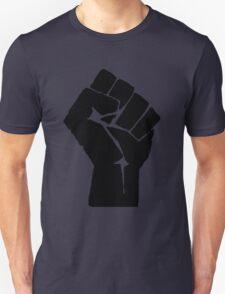 Solidarity Fist Salute Black Unisex T-Shirt