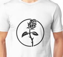 Black Rose of Solidarity. Anarchists Rose. Unisex T-Shirt