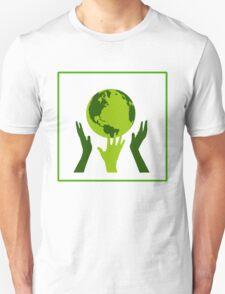 Green Hands Earth. Environment. T-Shirt