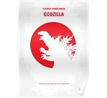 No029-1 My Godzilla 1954 minimal movie poster Poster