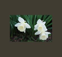 Three White Daffodils Unisex T-Shirt