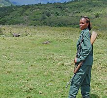 The Armed Guide, Arusha National Park, Tanzania, Africa (Y) by Adrian Paul