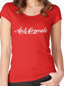 Anti-Corporate 'Subversive' Cola Logo Women's Fitted Scoop T-Shirt