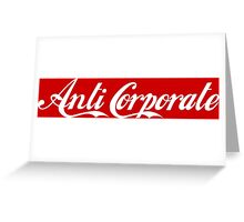 Anti-Corporate 'Subversive' Cola Logo Greeting Card