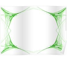 Fractal 42 Green Frame Poster